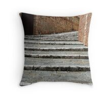 Steps in Siena, Italy Throw Pillow