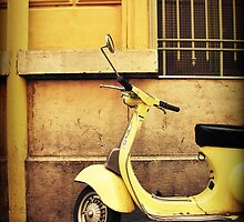 Yellow Scooter by Caroline Fournier