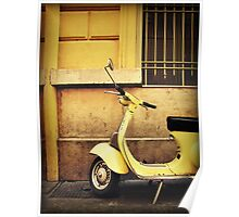 Yellow Scooter Poster