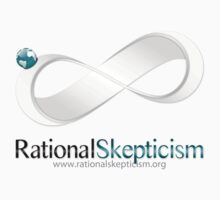 Rational Skepticism Main Logo on lighter apparel by ratskep