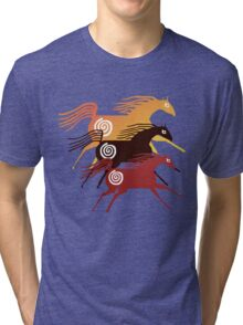 Three Ancient Horses Tri-blend T-Shirt