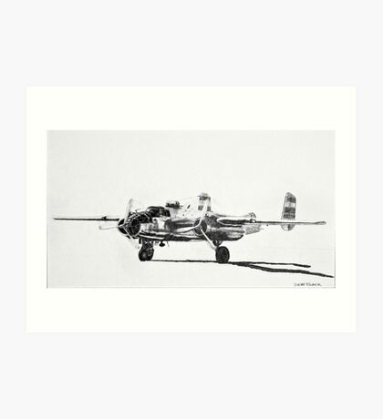 "B-25 ""Billy Mitchell"" attack bomber Art Print"