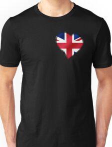 British Union Jack Flag - United Kingdom UK - Heart Unisex T-Shirt
