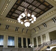 Waiting Room, Historic Hoboken Ferry and Train Terminal, New Jersey by lenspiro
