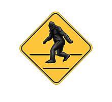 Caution! Bigfoot Crossing! Photographic Print
