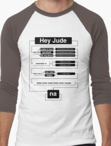 Hey Jude Men's Baseball ¾ T-Shirt