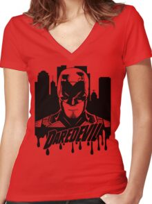 Daredevil : The devil in hell's kitchen Women's Fitted V-Neck T-Shirt