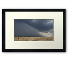 Its Coming Framed Print
