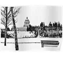 Winter in Olympia, Washington Poster