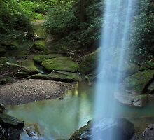Behind the Falls by Kent Nickell