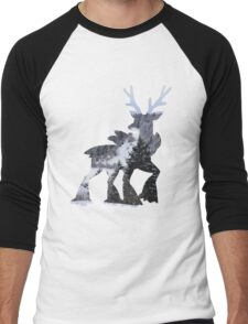 Sawsbuck (winter) used natural gift Men's Baseball ¾ T-Shirt
