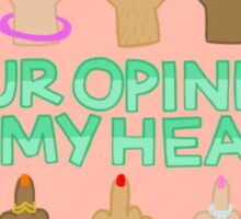 Your Opinion of My Health Sticker