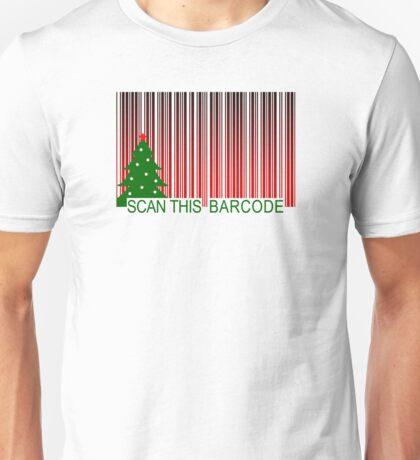 MERRY XMAS BARCODE Unisex T-Shirt