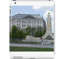 Inter Europe Bank, Soviet Red Army Memorial, Budapest, Hungary iPad Case/Skin