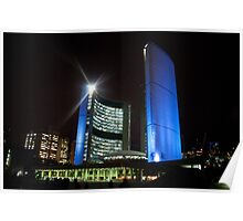 Toronto City Hall at Night Poster