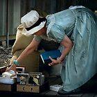 Preparing for trade ~ Australian Pioneer Village, Wilberforce by Rosalie Dale