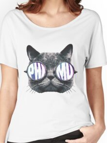 Phi Mu Cat Galaxy Women's Relaxed Fit T-Shirt