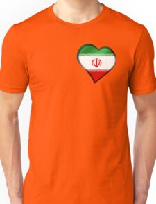 Iranian Flag - Iran - Heart Unisex T-Shirt