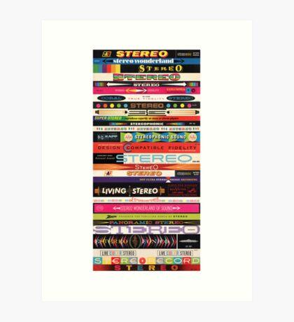 Stereo Stack Poster/Print #1 Art Print
