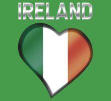 Ireland - Irish Flag Heart & Text - Metallic by graphix