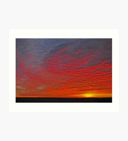 High Plains Sunrise Art Print