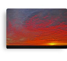 High Plains Sunrise Canvas Print
