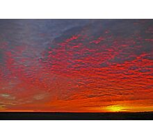 High Plains Sunrise Photographic Print