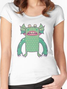 Black Lagoon Monster's Ugly Brother Women's Fitted Scoop T-Shirt