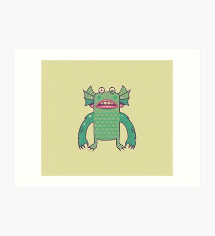 Black Lagoon Monster's Ugly Brother Art Print