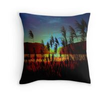 Sugarcane Sunset Throw Pillow