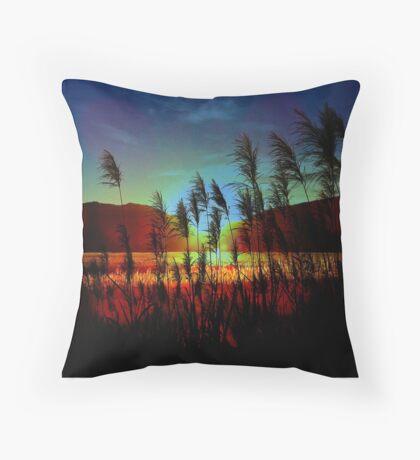 Sugarcane Sunset Throw Pillow