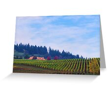 Yamhill County Vineyard  Greeting Card