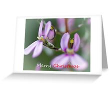 card - pink trigger flowers Greeting Card
