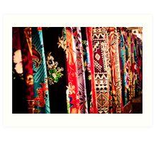 Sarongs at the Market Art Print