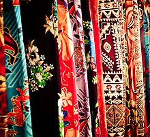 Sarongs at the Market by Jan  Stroup ~ Photojournalist