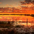 A gorgeous sunset at Rivoli Wetlands, near Beachport by Elana Bailey