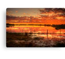 A gorgeous sunset at Rivoli Wetlands, near Beachport Canvas Print