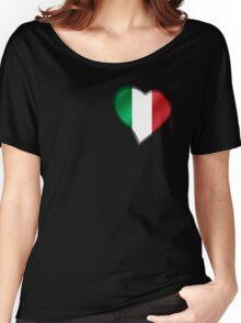Italian Flag - Italy - Heart Women's Relaxed Fit T-Shirt
