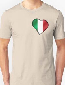Italian Flag - Italy - Heart T-Shirt