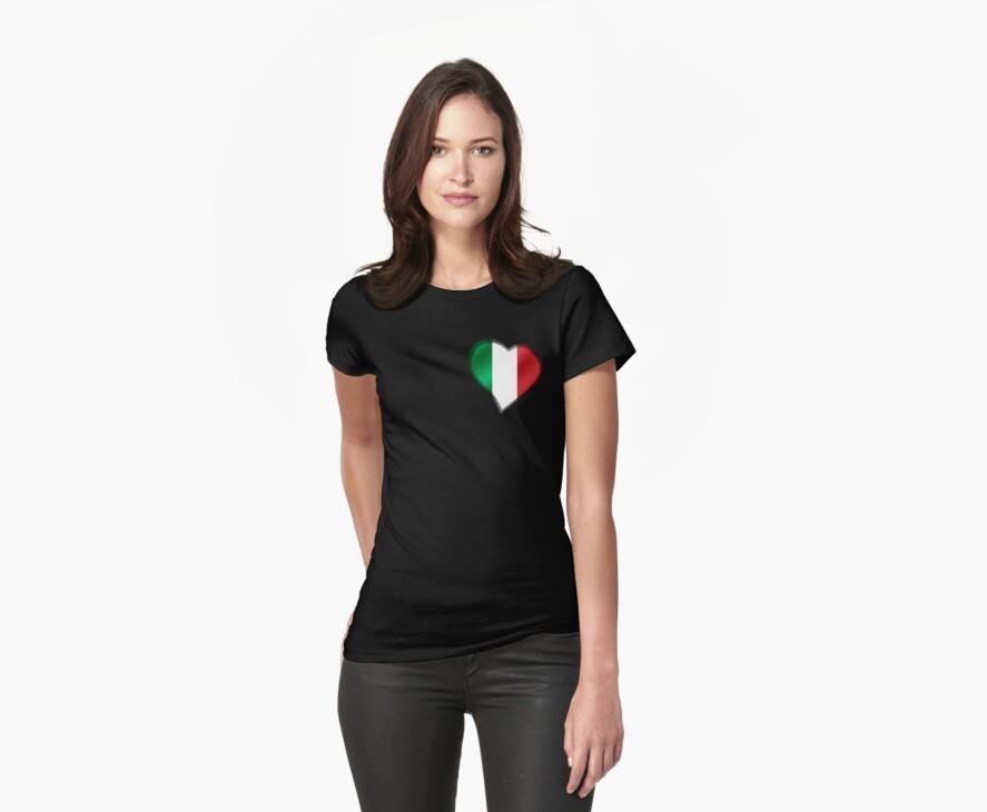 Italian Flag - Italy - Heart by graphix