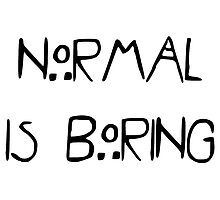Normal Is Boring by Gabrielle Cohen