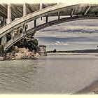 Rakaia Gorge, Bridge No.2 - looking downstream by Phoxford