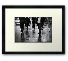 Rain Walk Framed Print