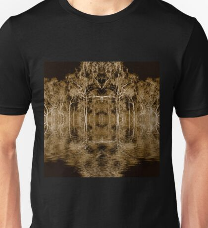 Fire scarred landscape kaleidoscope Unisex T-Shirt