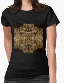 Fire scarred landscape kaleidoscope Womens Fitted T-Shirt