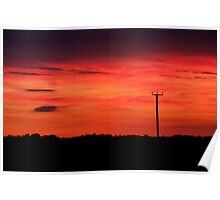 Sunset over Fynnes Meadow & Townlands Poster