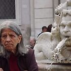 Lady in Piazza Navona, Rome Italy by graceloves