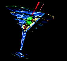 Las Vegas Neon Collection - Oscar's Martini by Bobby Deal