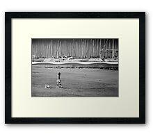 Girl & Dogs Framed Print