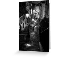 Un Escalier à  Montmartre Greeting Card